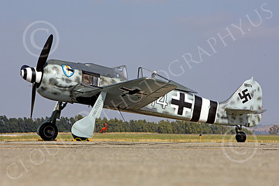 WB - Focke-Wulf Fw 190 00061 A static Focke-Wulf Fw 190 German WWII era fighter airplane picture, by Peter J Mancus
