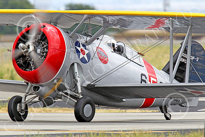 WB - Grumman F3F 00051 A taxing Grumman F3F biplane fighter warbird, airplane picture, by Peter J Mancus