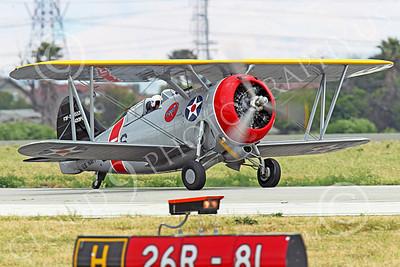WB - Grumman F3F 00047 A taxing Grumman F3F biplane fighter warbird, airplane picture, by Peter J Mancus