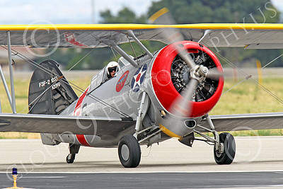 WB - Grumman F3F 00049 A taxing Grumman F3F biplane fighter warbird, airplane picture, by Peter J Mancus