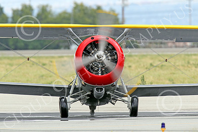WB - Grumman F3F 00055 Head-on view of a taxing Grumman F3F biplane fighter warbird, airplane picture, by Peter J Mancus