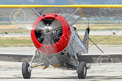 WB - Grumman F3F 00011 Tight crop of a taxing Grumman F3F biplane fighter warbird, airplane picture, by Peter J Mancus