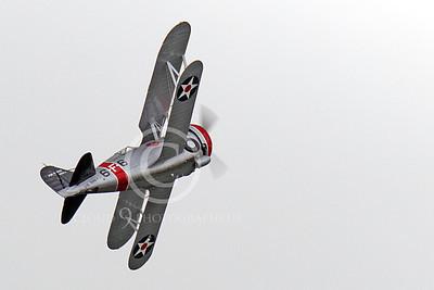 WB - Grumman F3F 00050 A Grumman F3F biplane fighter warbird climbs for altitude, airplane picture, by Peter J Mancus