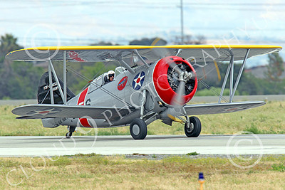 WB - Grumman F3F 00027 A taxing Grumman F3F biplane fighter warbird, airplane picture, by Peter J Mancus