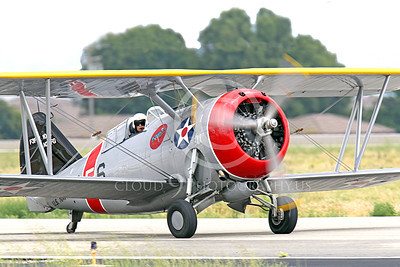 WB - Grumman F3F 00053 A taxing Grumman F3F biplane fighter warbird, airplane picture, by Peter J Mancus