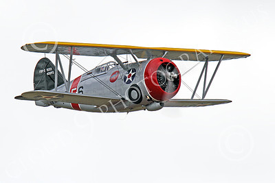 WB - Grumman F3F 00056 Quarter front view of a flying Grumman F3F biplane fighter warbird, airplane picture, by Peter J Mancus