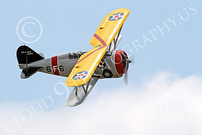 WB - Grumman F3F 00028 Top view of a flying Grumman F3F biplane fighter warbird turning right, airplane picture, by Peter J Mancus