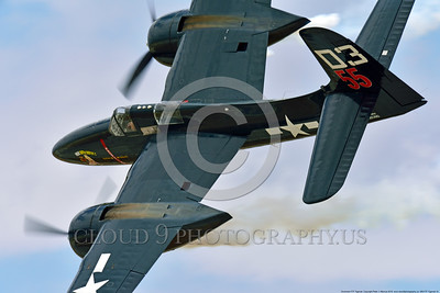 WB-F7F Tigercat 0014 A tight crop of a flying Grumman F7F Tigercat warbird picture at Chino Planes of Fame 2016 airshow by Peter J  Mancus
