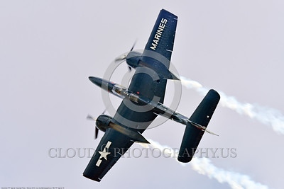 WB-F7F Tigercat 0012 Top view of a flying Grumman F7F Tigercat warbird picture at Chino Planes of Fame 2016 airshow by Peter J  Mancus
