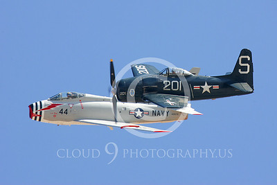 WB-F8F Bearcat 00012 North American FJ-4B Fury and Grumman F8F Bearcat by Peter J Mancus