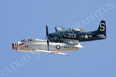 WB - 00006 North America F4-B Fury with Grumman F8F Bearcat by Peter J Mancus