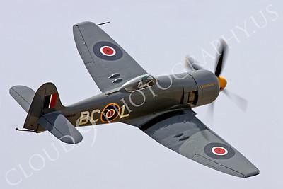 WB - Hawker Sea Fury 00024 Hawker Sea Fury Canadian Armed Forces Korean War era fighter warbird Argonaut by Peter J Mancus