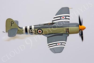 WB - Hawker Sea Fury 00018 Hawker Sea Fury British Royal Navy Korean War era fighter warbird by Peter J Mancus