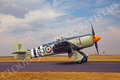 WB - Hawker Sea Fury 00033 Hawker Sea Fury British Royal Navy Korean War era fighter warbird by Peter J Mancus