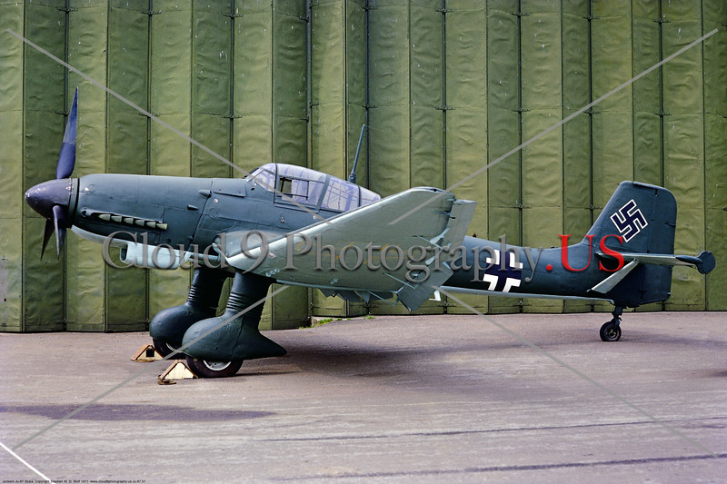 "Ju-87 001 A static Junkers Ju-87 Luftwaffe German WWII dive bomber ""Siren of Death"" RAF Museum military airplane picture by Stphen W  D  Wofl     853_4077     DoneWT"
