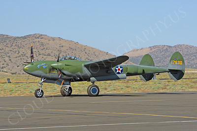 WB - Lockheed P-38 Lightning 00015 Lockheed P-38 Lightning Glacier Girl by Peter J Mancus