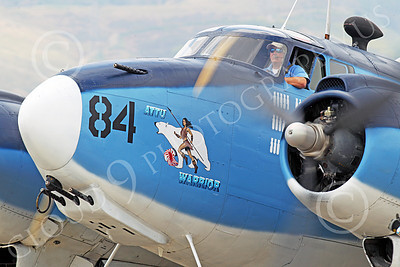 WB - Lockheed PV-2 Harpoon 00030 A tight crop of Attu Warrior's nose, a USN Lockheed PV-2 Harpoon warbird, airplane picture, by Peter J Mancus