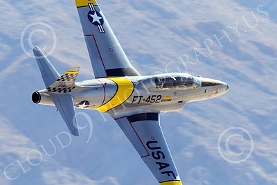 WB-T-33 00022 A tight crop of a low flying Lockheed T-33 Shooting Star USAF jet trainer, ACE MAKER II, warbird picture by Peter J Mancus
