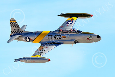 WB-T-33 00010 A flying Lockheed T-33 Shooting Star USAF jet trainer, ACE MAKER II, warbird picture by Peter J Mancus