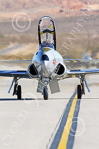 WB-T-33 00023 A taxing Lockheed T-33 Shooting Star USAF jet trainer, ACE MAKER II, warbird picture by Peter J Mancus