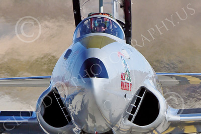 WB-T-33 00027 A taxing Lockheed T-33 Shooting Star USAF jet trainer, ACE MAKER II, warbird picture by Peter J Mancus