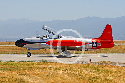 WB-T-33 00003 Lockheed T-33 Shooting Star US Air Force by Peter J Mancus