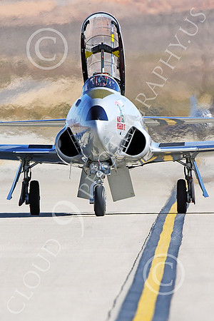 WB-T-33 00025 A taxing Lockheed T-33 Shooting Star USAF jet trainer, ACE MAKER II, warbird picture by Peter J Mancus