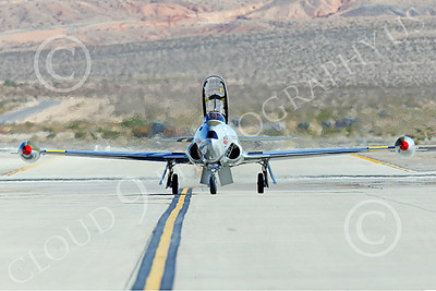 WB-T-33 00029 A taxing Lockheed T-33 Shooting Star USAF jet trainer, ACE MAKER II, warbird picture by Peter J Mancus