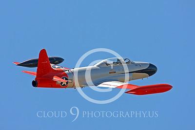WB-T-33 00008 Lockheed T-33 Shooting Star US Air Force by Peter J Mancus