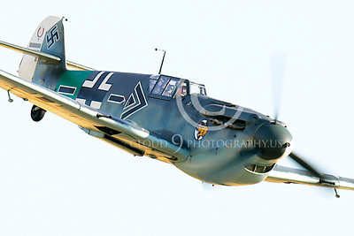 WB - Bf-109 00012 Messerschmitt Bf-109 fighter German World War II Luftwaffe by Peter J Mancus