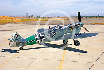 WB - Bf-109 00031 Messerschmitt Bf-109 fighter German World War II Luftwaffe by Peter J Mancus