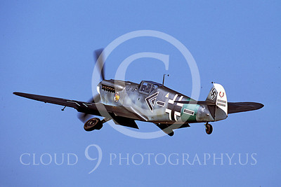 WB - Bf-109 00052 Messerschmitt Bf-109 fighter German World War II Luftwaffe by Peter J Mancus