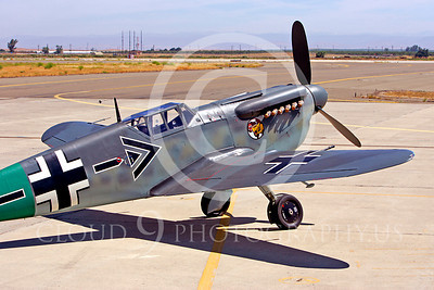 WB - Bf-109 00057 Messerschmitt Bf-109 fighter German World War II Luftwaffe by Peter J Mancus