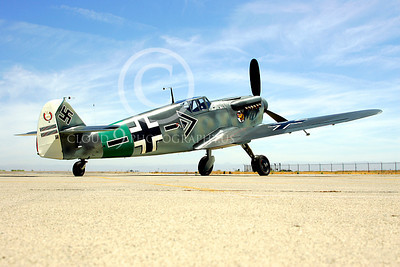 WB - Bf-109 00005 Messerschmitt Bf-109 fighter German World War II Luftwaffe by Peter J Mancus