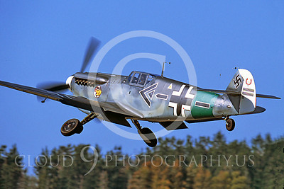 WB - Bf-109 00038 Messerschmitt Bf-109 fighter German World War II Luftwaffe by Peter J Mancus