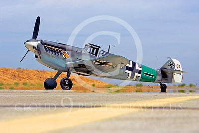 WB - Bf-109 00055 Messerschmitt Bf-109 fighter German World War II Luftwaffe by Peter J Mancus