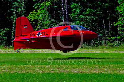 WB - Me 163 Komet 00005 Messerschmitt Me 163 Komet German World War II anti-bomber warbird airplane by Stephen W D Wolf