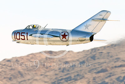 WB-MiG-15 00068 A flying Mikoyan-Gurevich MiG-15 Fagot Soviet jet figher flying low, warbird picture by Peter J Mancus