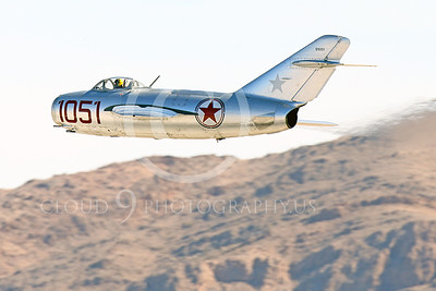WB-MiG-15 00050 A flying Mikoyan-Gurevich MiG-15 Fagot Soviet jet figher flying low, warbird picture by Peter J Mancus