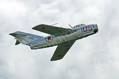 WB - MiG-15 00006 A flying Mikoyan-Guryevich MiG-15 Fagot jet fighter warbird airplane picture by Peter J Mancus