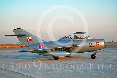 WB - MiG-15 00025 Mikoyan-Guryevich MiG-15UTI Polish Air Force warbird markings by Carl E Porter