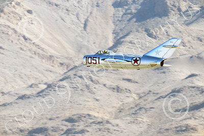 WB-MiG-15 00018 A flying Mikoyan-Gurevich MiG-15 Fagot Soviet jet figher flying low, warbird picture by Peter J Mancus