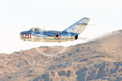 WB-MiG-15 00024 A flying Mikoyan-Gurevich MiG-15 Fagot Soviet jet figher flying low, warbird picture by Peter J Mancus
