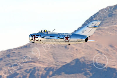 WB-MiG-15 00054 A low flying Mikoyan-Gurevich MiG-15 Fagot Soviet jet figher, warbird picture by Peter J Mancus