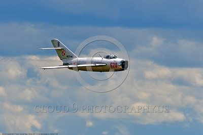 WB-MiG-17 00043 A flying Mikoyan-Guryevich MiG-17 Fresco Soviet Cold War era supersonic jet fighter at Thunder Over Michigan 2016 airshow warbird picture by Peter J  Mancus