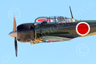 WB-Mitsubishi A6M Zero 00010 Close up of a flying Mitsubishi Zero WWII Japanese fighter, as if the pilot is your wingman, warbird picture by Peter J Mancus