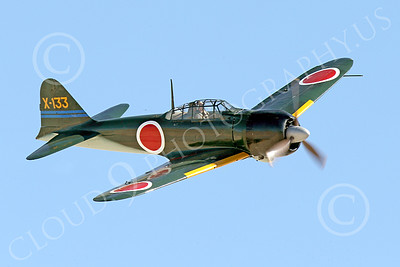 WB-Mitsubishi A6M Zero 00008 A flying Mitsubishi Zero WWII Japanese fighter warbird picture by Peter J Mancus