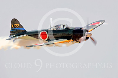 WB - Mitsubishi A6M Zero 00020 Mitsubishi A6M Zero Japanese World War II fighter by Peter J Mancus