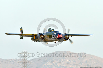 SM-B-25 00022 A low flying colorful sharkmouth North American B-25 Mitchell BETTY'S DREAM at Chino Planes of Fame 2016 airshow warbird picture by Peter J  Mancus
