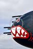 SM-B-25 034 A colorful sharkmouth North American B-25 Mitchell American World War II era medium bomber warbird picture by Peter J  Mancus